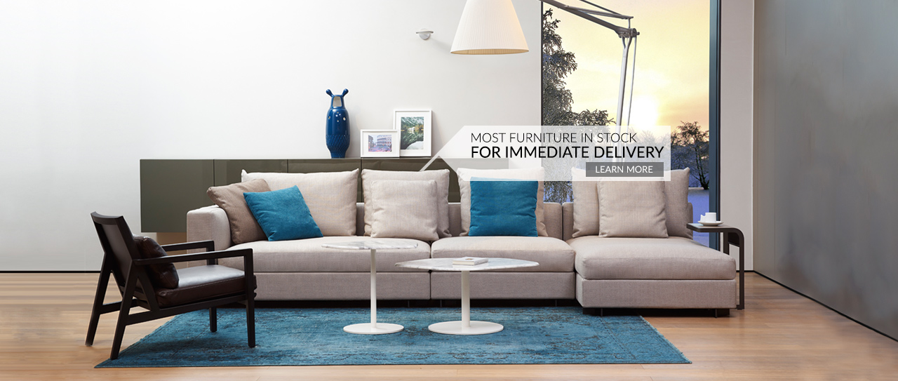Most furniture in stock for immediate delivery