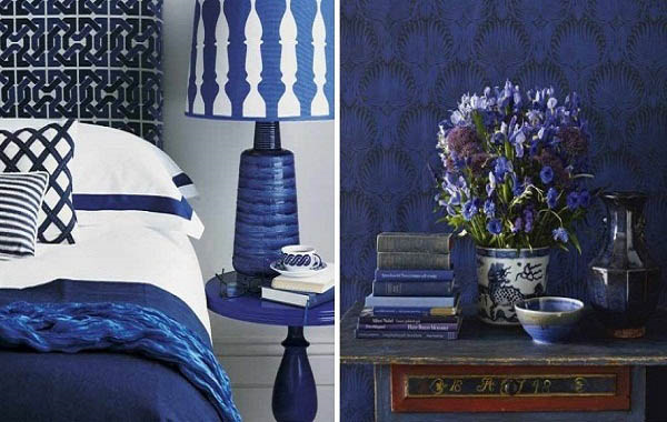 Greek blue white interiors modern designer furniture for Interior design bedroom blue white