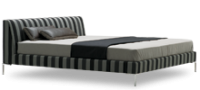 The overall aesthetic of the Alison modern designer bed is one of master craftsmanship blended superb furniture design.