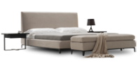 Formal yet supremely comfortable the Crescent contemporary bed is designed in impeccable taste.
