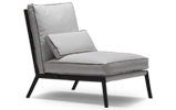 The Arc contemporary lounge chair is a modern take on a classic theme.
