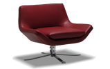 A classically modern design, the Eddy Chair features a 360-degree swivel and broad profile.