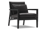 The Flora is equally stunning as a willowy dining chair or plush, inviting modern designer lounge chair.