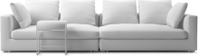 Clouds modern narrow straight sofa