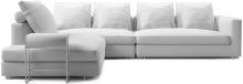 Clouds modern extra large narrow corner sofa