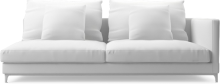 Crescent contemporary large deep sofa section