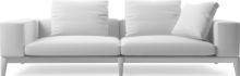 Moodie contemporary three seat sofa