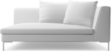 Alison modern small sofa section