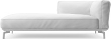 Avalon modern chaise sofa