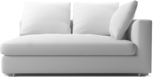 Clouds modern large narrow sofa section