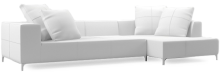 Prices from £2,500. The Balance Plus range combines delicate feature stitching and plush back cushions with industrial style dark steel legs and bold cubic forms. Contact us for stock availability
