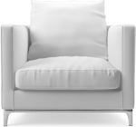 Crescent contemporary armchair