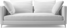Crescent contemporary narrow two seat sofa bed