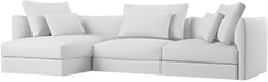 The Era contemporary corner sofa is a modern take on a high backed and comfortable sofa. Subtle details, such as the curved armrests create a refined, design-led aesthetic.