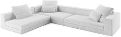 Prices from �2,811 next day delivery available. The Casa contemporary corner sofa is so fashionably modern, stuffed with the finest down feathers and low to the ground, it is the first word in relaxed elegance.