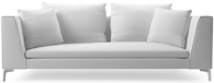 Prices from �1,537 next day delivery available. The Alison Plus modern sofa range comprises beautifully tapered arms, elegant chrome legs and linear styling to bring you a timeless piece of modern designer furniture.