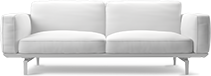 The Jane contemporary sofa evokes images of the most modernistic interior spaces.