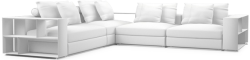 The Freetown contemporary corner sofa lets you be the designer, an amazingly modular system