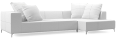 Prices from �2,632 next day delivery available The chic black steel detailing, the generous back cushion and the subtle feature stitching combine to create a sofa of unrivaled refinement.