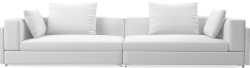 The Brooks contemporary sofa speaks of modern urban design and modern clean-cut styling.