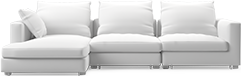 Prices from �3,161 next day delivery available. The Clouds modern corner sofa evokes ultimate comfort mixed with contemporary design, establishing an informal but sleek visual.