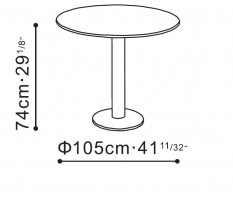 Hanna Marble Dining Table dimensions