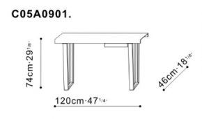 Bend Console Table dimensions
