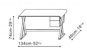Betty Desk with Storage dimensions