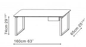Verge Desk dimensions