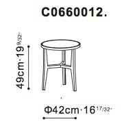 Small Lark Side / Bedside Table dimensions