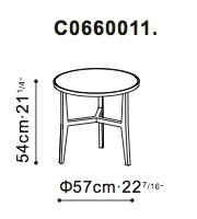 Large Lark Side / Bedside Table dimensions