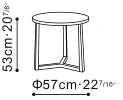 Large Teri Side / Bedside Table dimensions