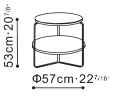 Flex Two-Tier Side / Bedside Table dimensions