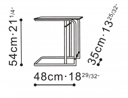 Square Flex Side / Bedside Table dimensions