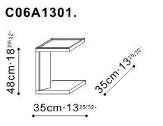 Frame Side Table dimensions