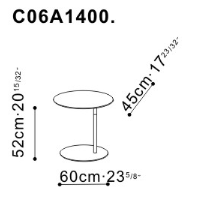 Pebble Coffee Table dimensions