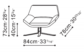 Eddy Lounge Chair dimensions