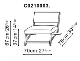 Eric Lounge Chair dimensions