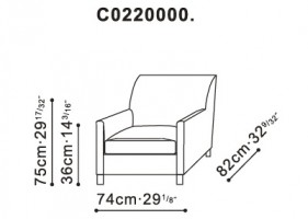 Talk Armchair dimensions