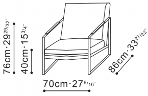 Leman Lounge Chair dimensions