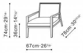 Flora Lounge Chair dimensions