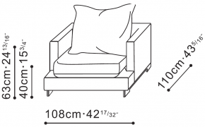 Lazytime Armchair dimensions