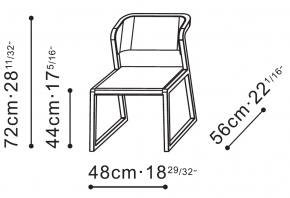 Ming Dining Chair dimensions