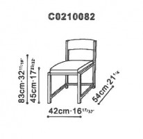 Tess Dining Chair dimensions