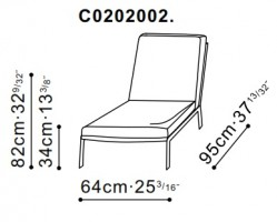 Arc High Backed Lounge Chair dimensions