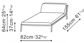 Arc Low Backed Lounge Chair dimensions