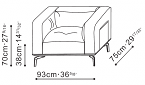 Avalon Lounge Chair dimensions