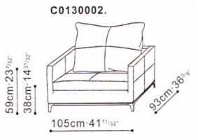 Wide Balance Armchair dimensions