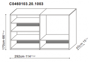 Shelving Unit with TV Option dimensions