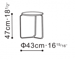 Round Flex Side/Bedside Table dimensions